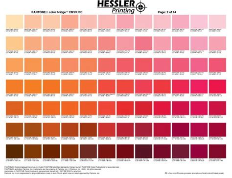shades of red rgb pantone color chart pantone color charts and hair color
