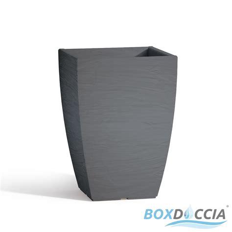 vasi resina vaso vasi resina moderno quadrato ruvido made in italy