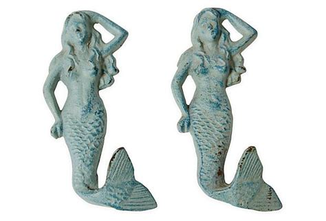Mermaid Drawer Pulls by Mermaid Drawer Pulls Pair