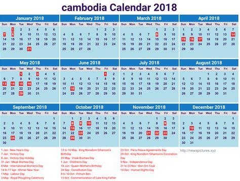 cambodia 2018 calendar printable 2018 calendar