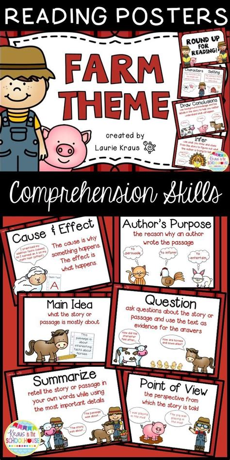 themes in reading comprehension 46 best farm theme images on pinterest classroom ideas