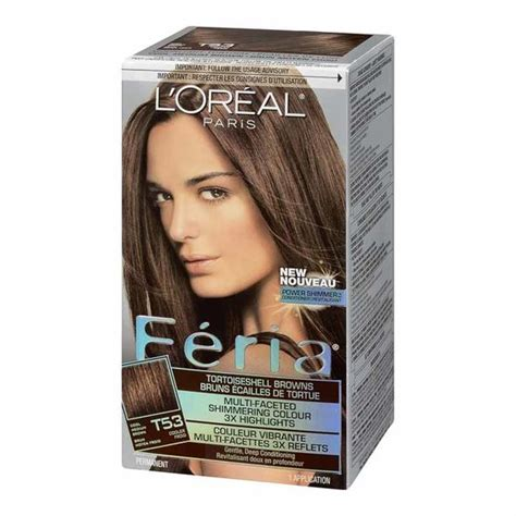 loreal hair color feria l oreal feria hair colour t53 moonlit tortoise cool