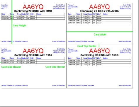 how to make qsl cards dxkeeper qsl configuration