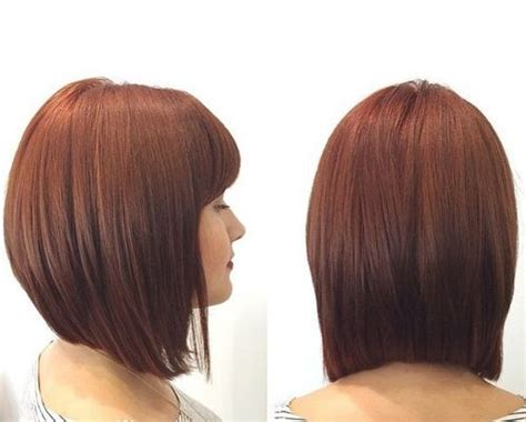techniques for cutting angled front of straight hair angled long bob with straight bangs