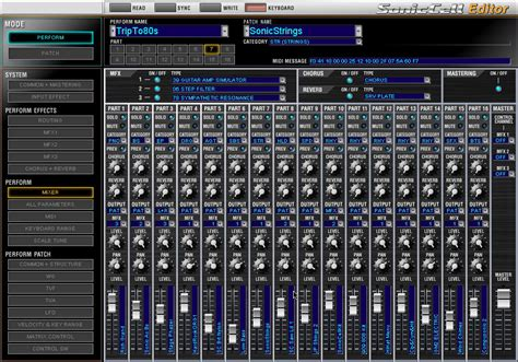 tr editpro soundeditor soundtower software software roland soniccell expandable synthesizer module with