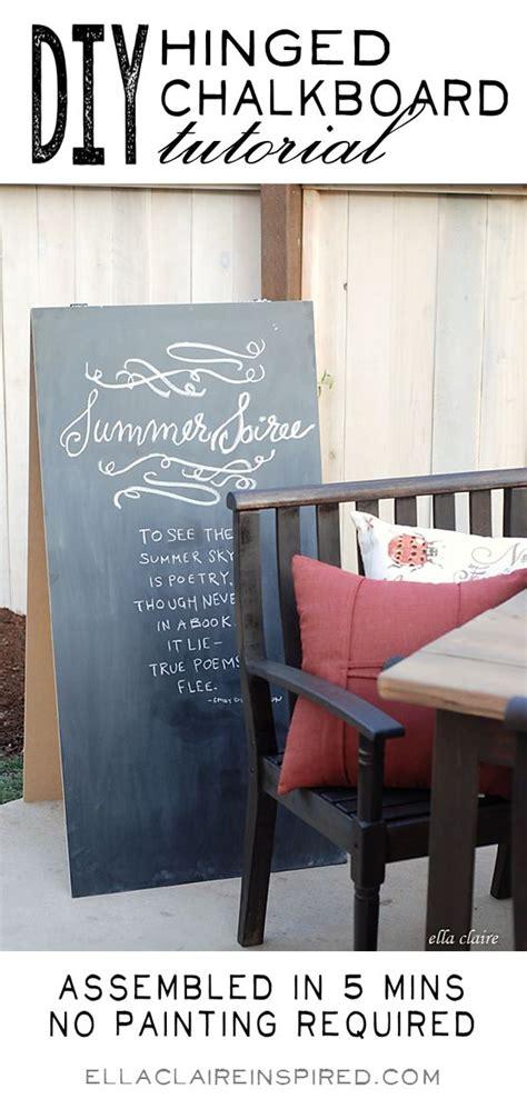 diy chalkboard sign tutorial diy hinged chalkboard tutorial ella side gates