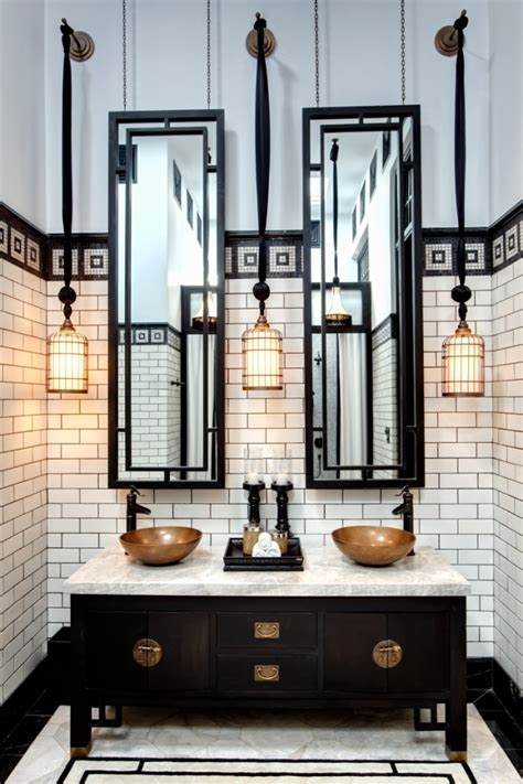 black and white bathroom art 20 stunning art deco style bathroom design ideas