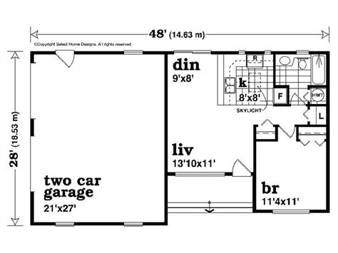 Single Story Garage Apartment Plans by 2 Car Garage With Apartment Plan 604 Sq Ft 032g 0008
