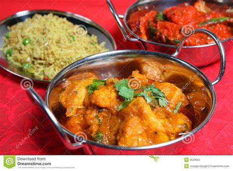 indian curry dinner indian curry food meal dinner royalty free stock photo