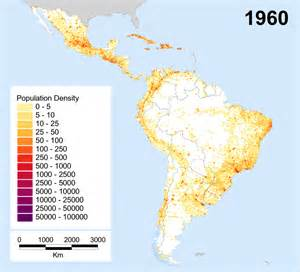 population map of south america america and the caribbean population database