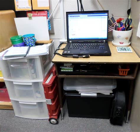 How To Get Rid Of The Teacher S Desk And Stay Organized Classroom Desk Organization