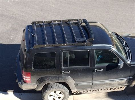 jeep liberty roof rack roof rack for 08 12 jeep liberty kk at the helm fabrication