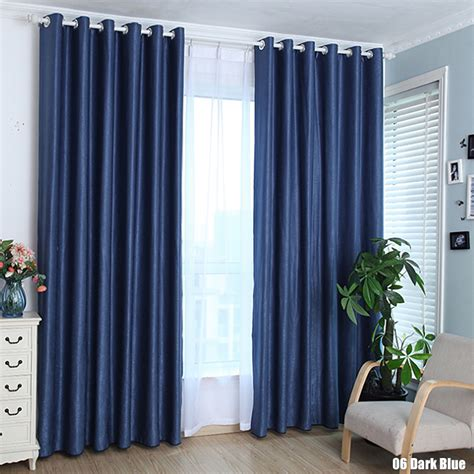 Solid Color Cotton Linen Shade Window Kitchen Bathroom Linen Kitchen Curtains