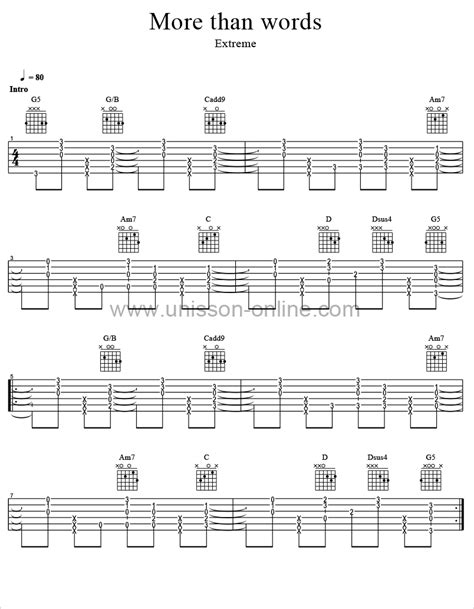 More Than Words Guitar Chords