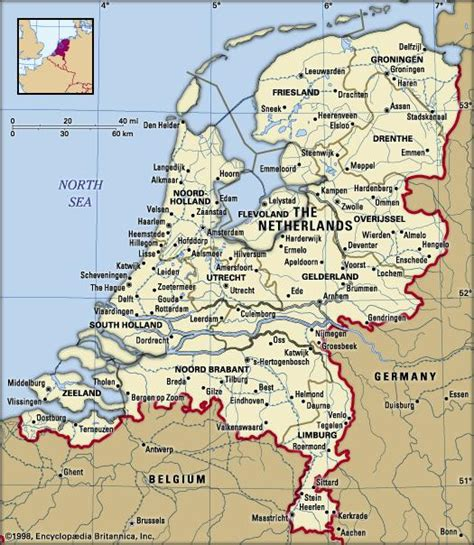 netherlands borders map netherlands facts destinations and culture