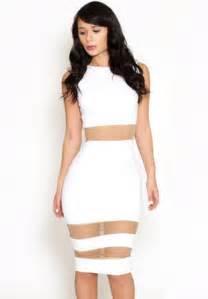 white bodycon dress white sleeveless contrast mesh yoke bodycon dress abaday