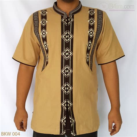 Baju Koko Modern Cowok baju koko lengan pendek bordir modern model terbaru 187 mukena cantik baju muslim