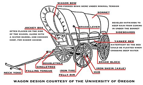 Oregon Trail Wagon Drawing
