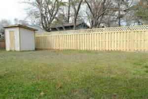 backyard fence pictures and ideas