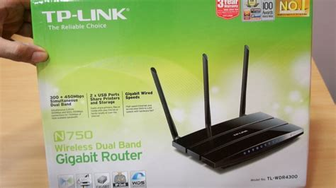 Tp Link N750 Wireless Dual Band Gigabit Router tp link n750 dual band wifi router tl wdr4300 unboxing