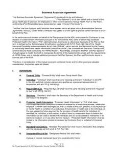 Business Associate Agreement Hipaa Template hipaa business associate agreement this sle business