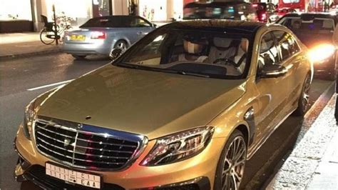 gold mercedes gold mercedes s63 amg by brabus seen in