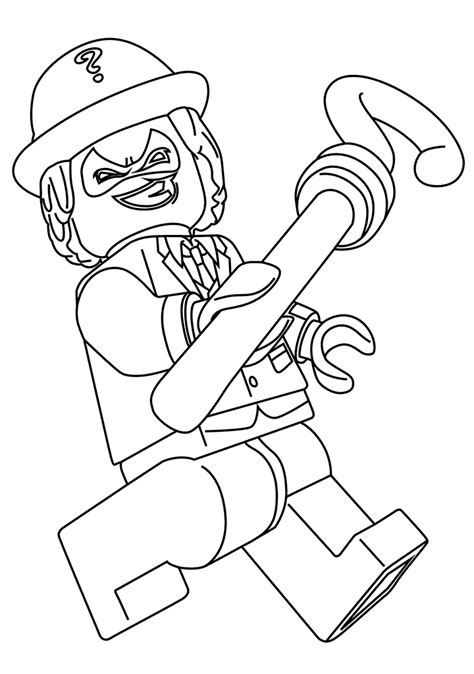 lego riddler coloring pages the riddler coloring page lego batman movie 2017 get
