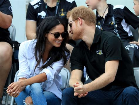 harry and meghan markle prince harry and meghan markle at invictus 2017