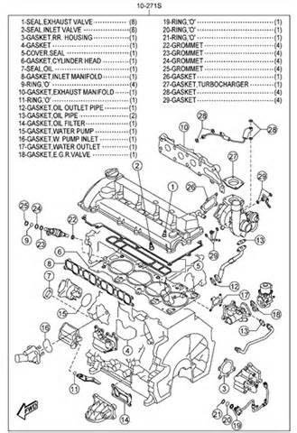 engine gasket set mazdaspeed6 06 07