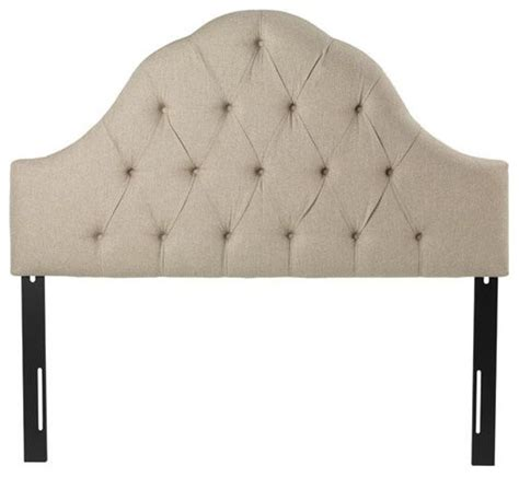 Tufted Arch Headboard Traditional Headboards By Home