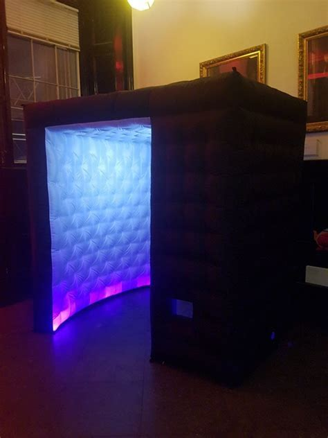 Black LED Inflatable Photo Booth Hire London   It's