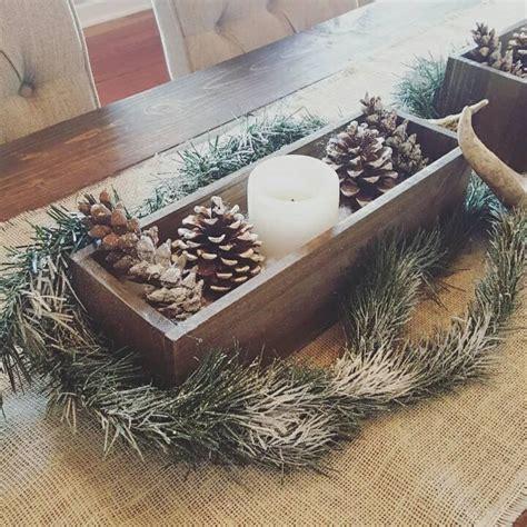 rustic planter box table centerpiece christmas decor