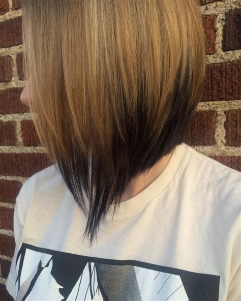short hair w reverse ombre hair angled bob hairstyles 2018 hairiz