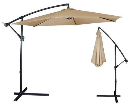 10Ft Outdoor Patio Sun Shade Umbrella Cantilever Hanging