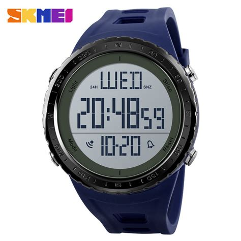 Jam Tangan Sporty Led Murah skmei jam tangan digital sporty pria 1310 blue