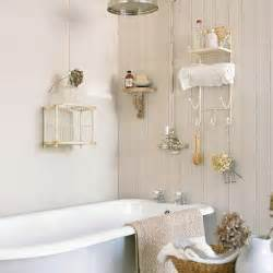 Small Bathroom Storage Ideas Uk Small Cream Panelled Bathroom With Birdcage Small