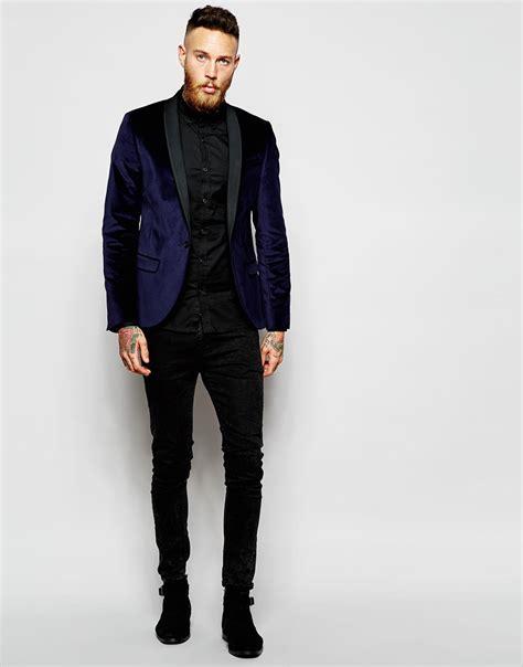 navy blue velvet navy blue velvet blazer trendy clothes