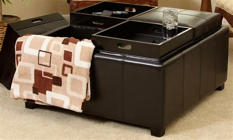 4 Tray Top Storage Ottoman 12 On Storage Ottoman With Tray Tops Livingsocial Shop