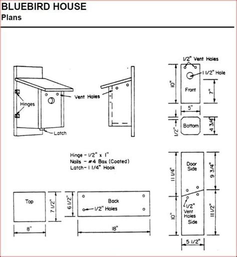 creating house plans bird house plans for bluebirds best of creating bluebird habitat free bluebird house plans