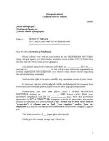 Employee Incident Report Templates notice to explain with preventive suspension sample form