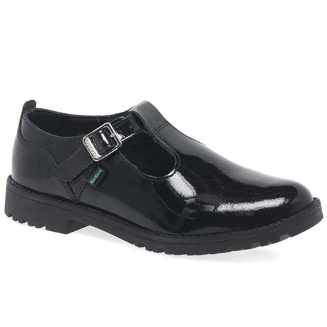 Jr High Heel Shoes 185 22 kickers lachly t junior girls black patent shoes charles clinkard