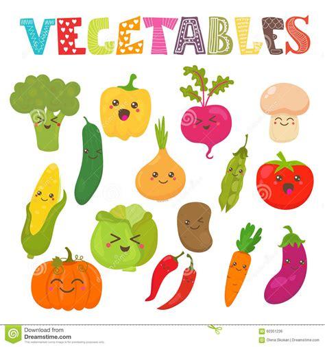 imagenes de frutas kawaii verduras sonrientes del kawaii lindo colecci 243 n sana del