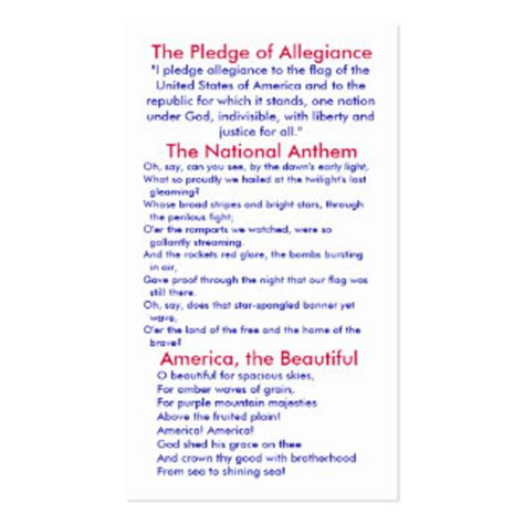 printable lyrics to the pledge of allegiance national anthem gifts t shirts art posters other