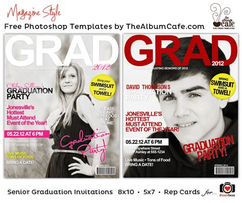 graduation templates for photoshop 12 free senior photoshop templates images free