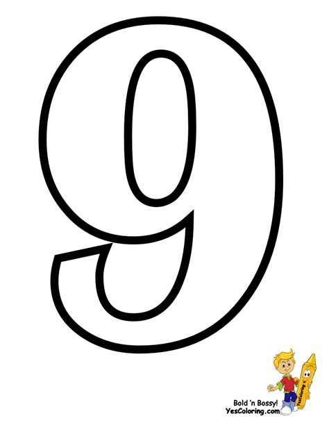 Letter Number 9 Traditional Free Alphabet Coloring Pages Learn Alphabet Letters Preschoolers