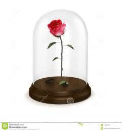 Rose In Glass by 3d Red Rose In A Glass Dome Stock Illustration Image