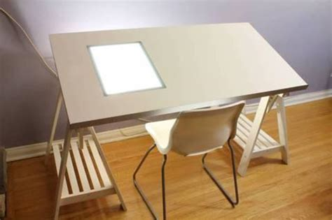 drawing desk with lightbox ikea drawing desk with light box plans diy pine