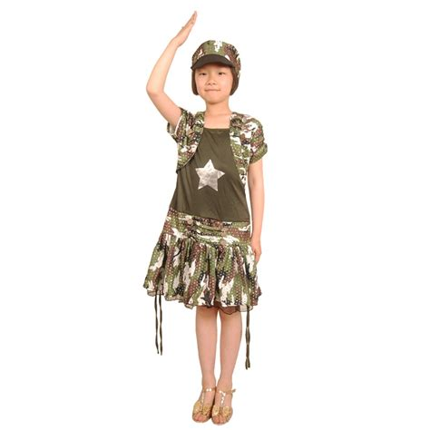 Dress Kid Bungashan 3 army costume soldier dress camouflage