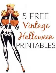 Free Halloween Decoration Printables 5 Free Vintage Halloween Printable Decorations Va Voom