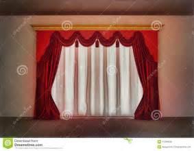 rideaux rouges de luxe dans la chambre vide illustration